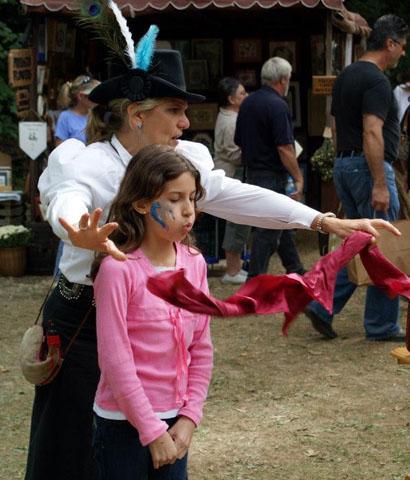 Magic Lady Jania Taylor Charminj Frontier Themed Magician Show